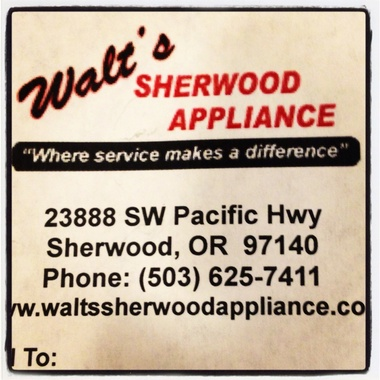 Walt's Appliance & Repair