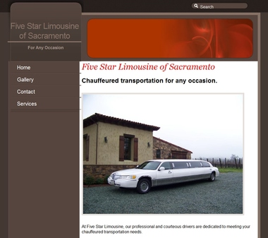 Five Star Limousine Of Sacramento