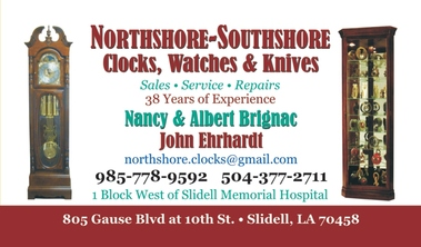Albert Brignac Northshore-Southshore Clocks Watches and Knives