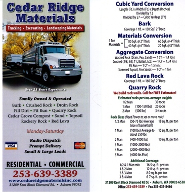 Cedar Ridge Materials, Inc